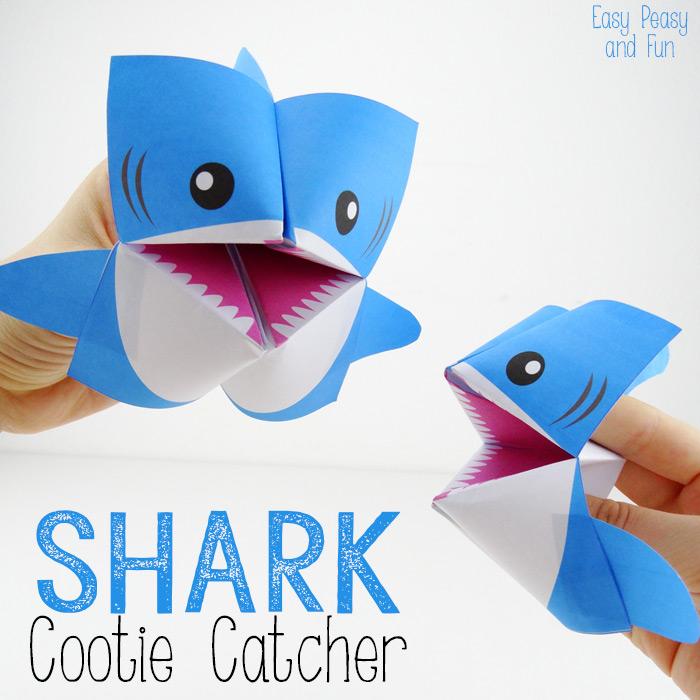 Origami-for-Kids-Shark-Cootie-Catchers