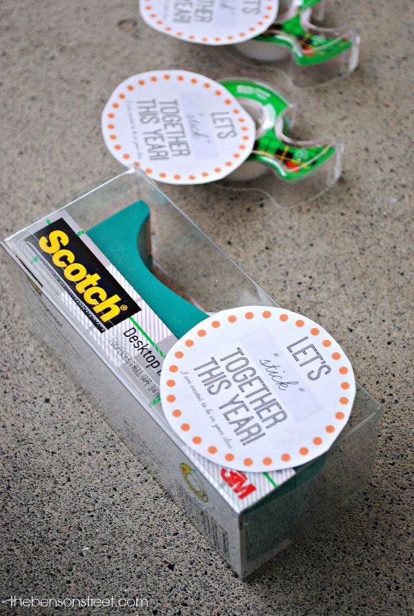 Scotch® Tape Dispenser and Magic Tape Printable Teacher Gift for Back to School from thebensonstreet.com