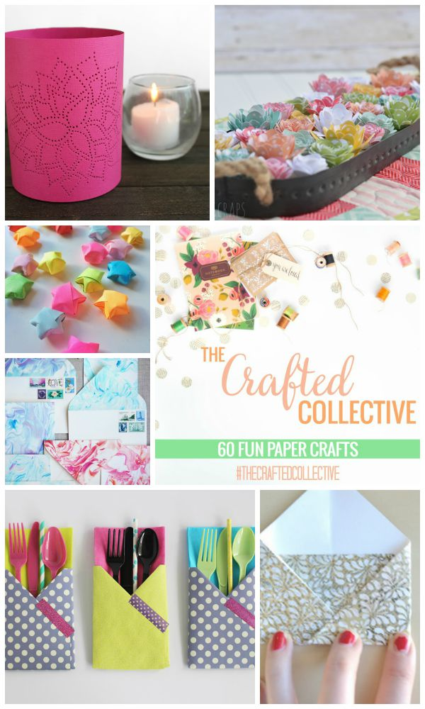 The Crafted Collective 60 Fun Paper Crafts at thebensonstreet.com
