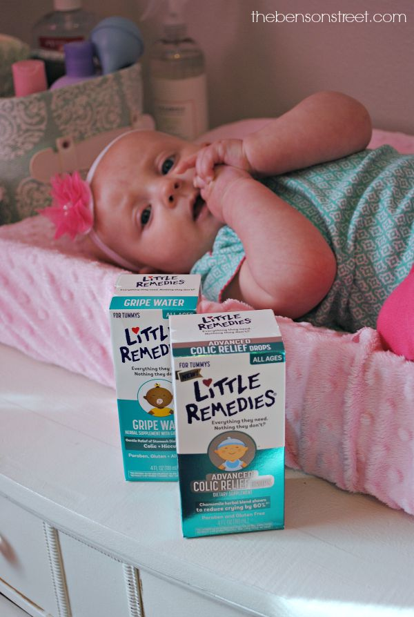 Little Remedies Advanced Colic Relief and Gripe Water help calm fussy babies at thebensonstreet.com