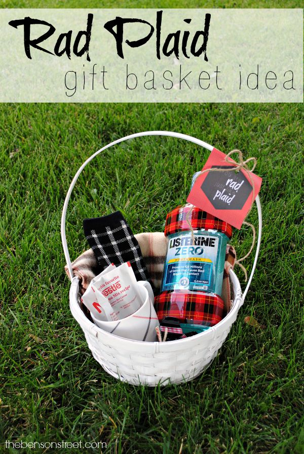 Rad Plaid Gift Basket Idea at thebensonstreet.com