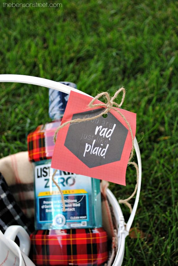 You are Rad Just Like Plaid Gift Idea and Printable Tag at thebensonstreet.com