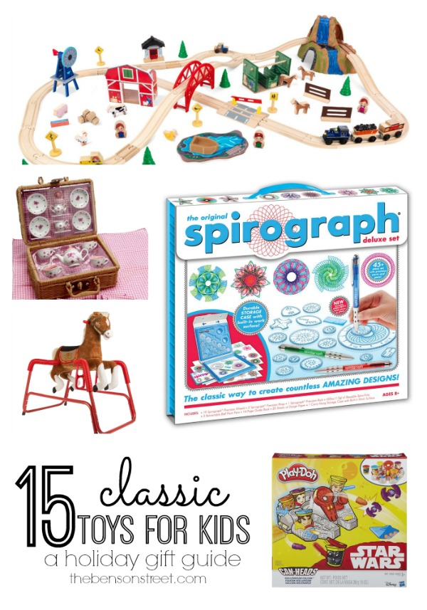 15 Classic Toys for Kids a holiday gift guide at thebensonstreet.com