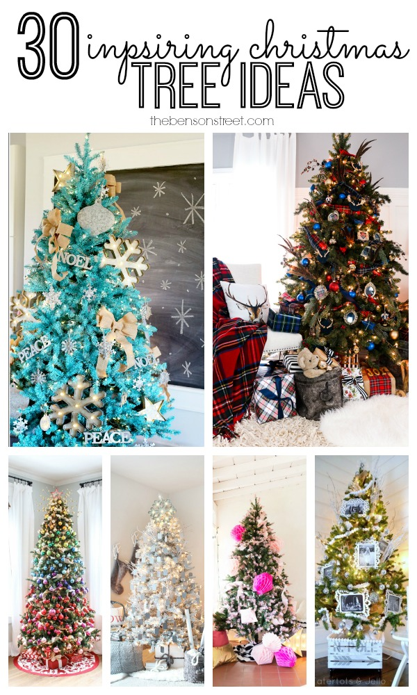 30 Inspiring Christmas Tree Ideas at thebensonstreet.com