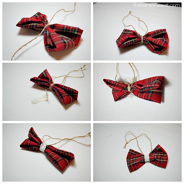 Cute and adorable bow ornament at thebensonstreet.com