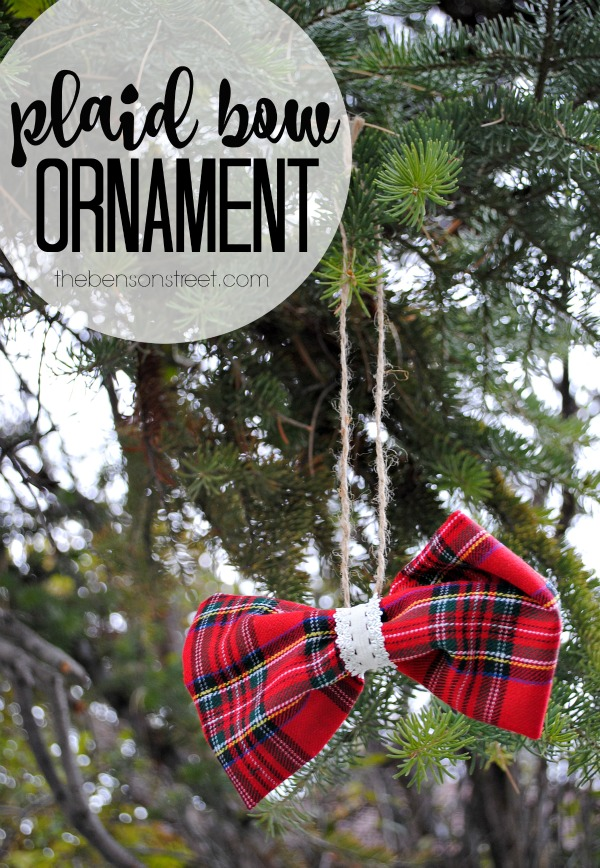 Easy Plaid Bow Ornament at thebensonstreet.com