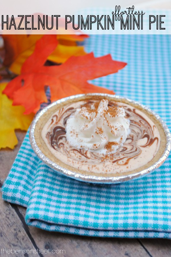 Effortless Hazelnut Pumpkin Mini Pie at thebensonstreet.com