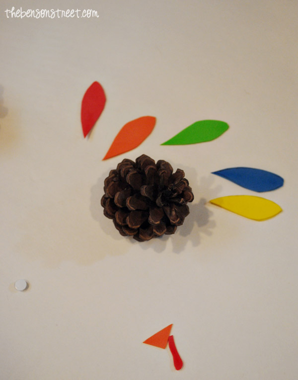 Fun-Kid-Craft-Turkey-Pinecone-at-thebensonstreet.com_