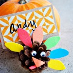 Pinecone Turkey Place Card Holder