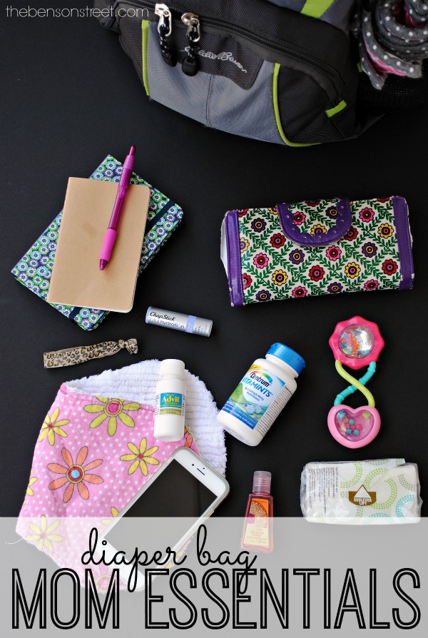 Things you've got to have in your diaper bag! Diaper Bag Mom Essentials at thebensonstreet.com