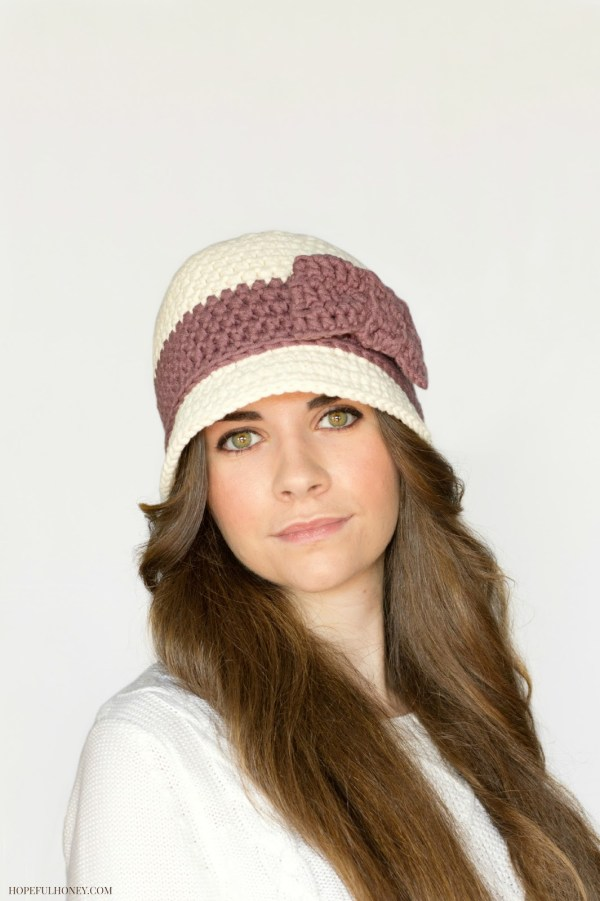 Downton Abbey Cloche Hat Crochet Pattern 4