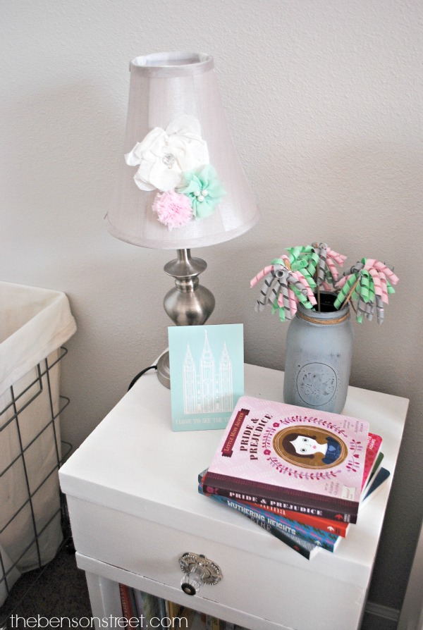 Adorable Floral Nursery Lamp at thebensonstreet.com