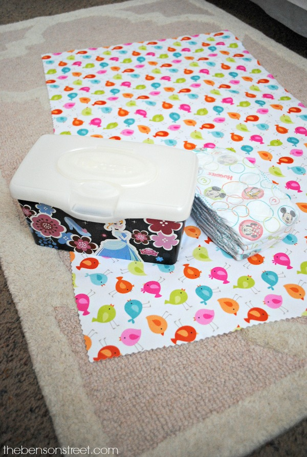 Quick project, No Sew Diaper Changing Pad at thebensonstreet.com