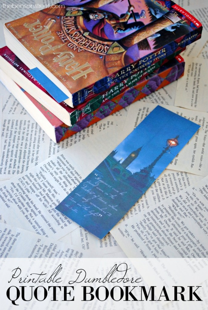 Free Printable Dumbledore Quote Bookmark via thebensonstreet.com