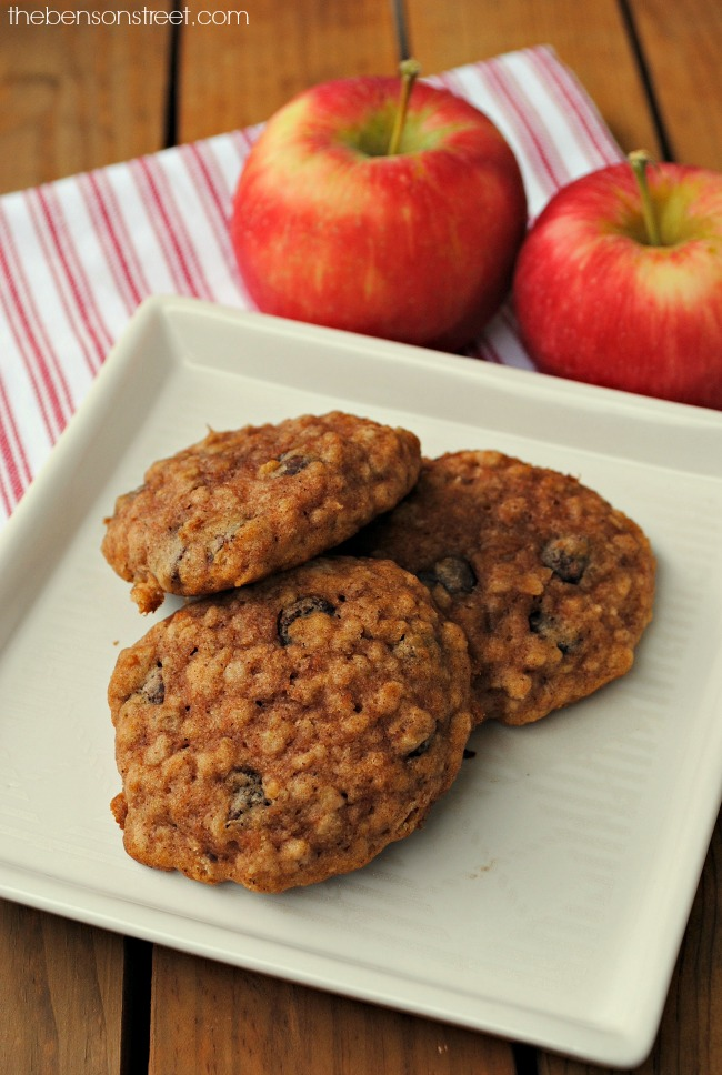 fun-recipe-for-breakfast-apple-oatmeal-breakfast-cookies-via-thebensonstreet-com