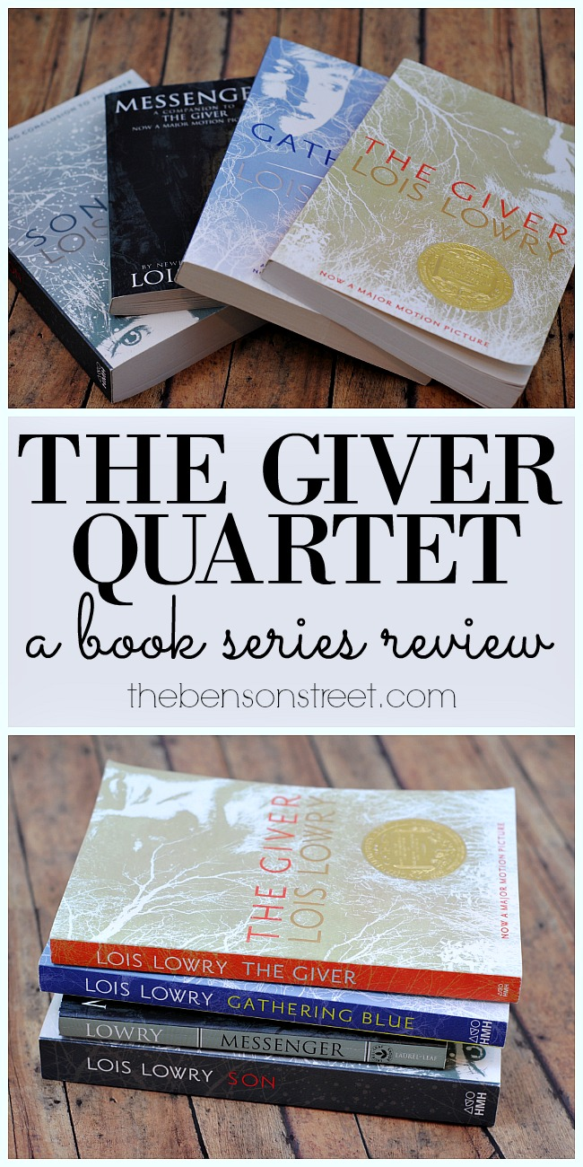 A great young adult dystopian read, The Giver Quartet a book series review by thebensonstreet.com