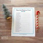 Name that Christmas Carol Printable Game