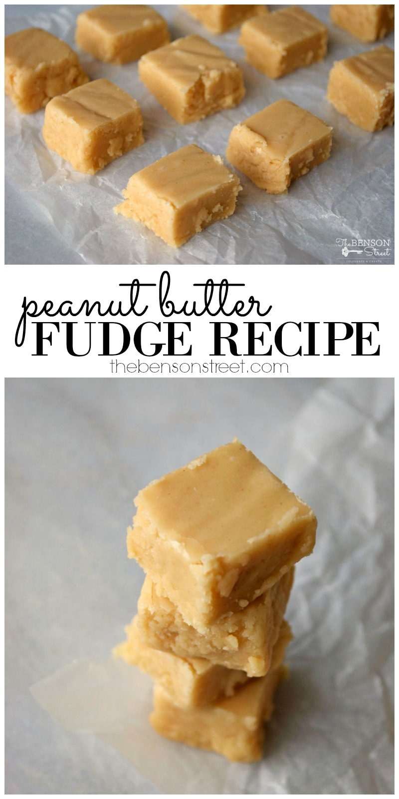 Looking for a treat for that special someone, a party, or for yourself? Try out this twist on an old favorite sweet with this peanut butter fudge recipe at thebensonstreet.com