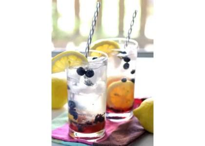 Blueberry Lemon Smash Rum Cocktail