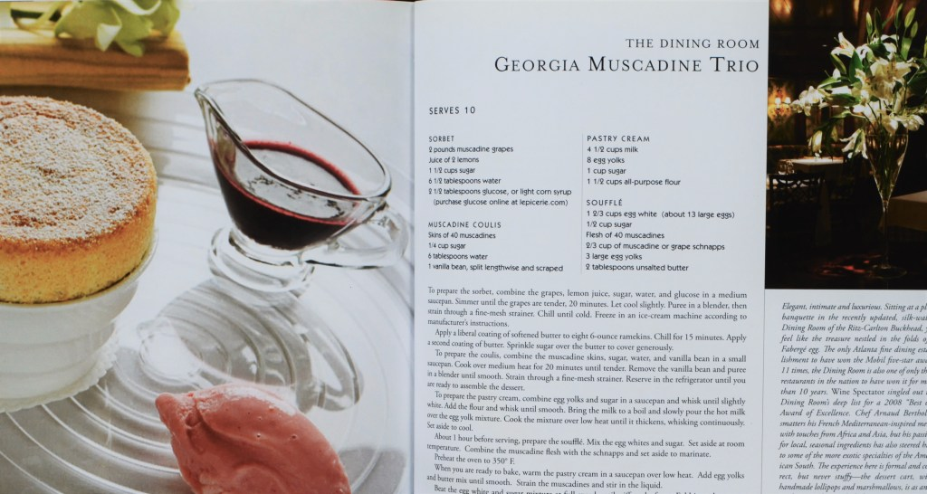 The Dining Room Muscadine Trio recipe