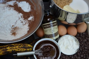 Triple Chocolate Banana Muffin Ingredients