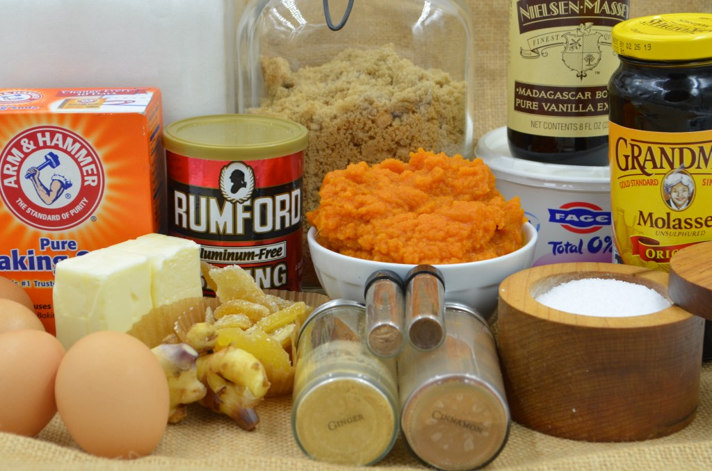Triple Ginger Pumpkin Muffin Ingredients