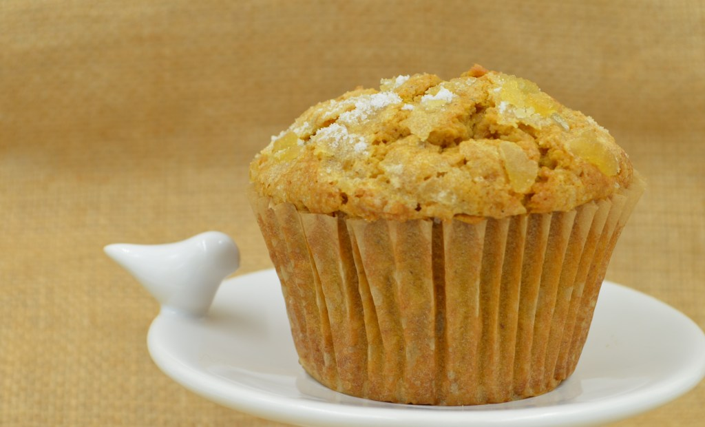 Triple Ginger Pumpkin Muffins