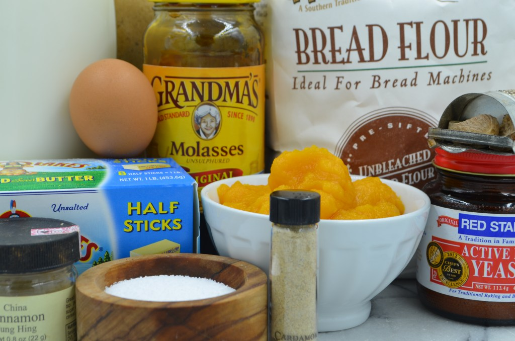 Everything You Need to Make Pumpkin Molasses Dinner Rolls