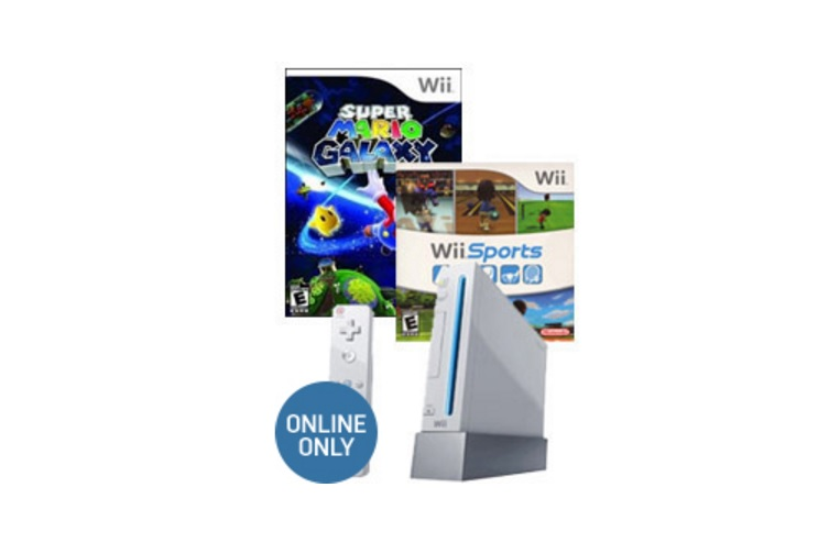 Refurbished Nintendo Wii Console with Accessories + Super Mario Galaxy and Wii Sports for $49.99 at Gamestop