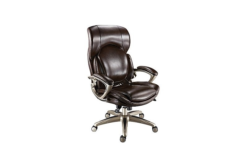 staples turcotte chair brown accent chairs gray pattern luxura high back office for 69 99 at air bonded leather manager s 32 50 select stores