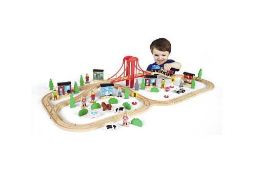Imaginarium 80-Piece Mega Train World Building Set for $19.99 at Toys R Us
