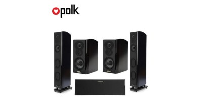 Polk Audio iM 705 47 Floorstanding Tower Black + 2x LSiM 703 + LSiM 706C Speakers