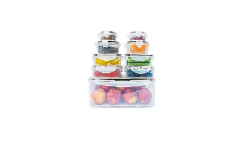 18 Pieces Set 9 Containers and 9 Lids Fullstar Food Storage Containers Set with Smart Lock Lids