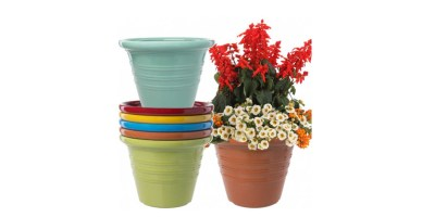 6pk Large 16inch Outdoor Planter Pot Set – Lightweight and Durable
