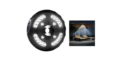 Amir Patio Umbrella Light, Cordless 24 LED Night Lights, 12,000 lux Umbrella LED Light