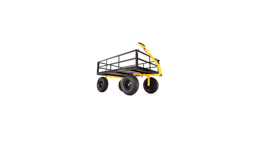 Gorilla Carts GOR1400-COM Heavy-Duty Steel Utility Cart with Removable Sides and 15 Tires 1400 lb Capacity