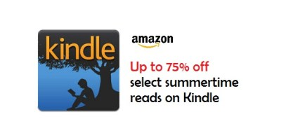 Save Up to 75% off select summertime reads on Kindle