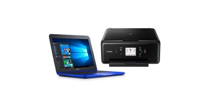 Dell 11.6 Notebook with Microsoft Office 365 and Canon Pixma TS6020 Printer Bundle