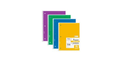 4 Pack – Mead Spiral Notebook 1-Subject (70-Count)