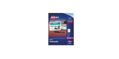 Avery Postcards for Laser Printers, - 4 1/4 x 5 1/2, Uncoated White, 4/Sheet, 200/Box