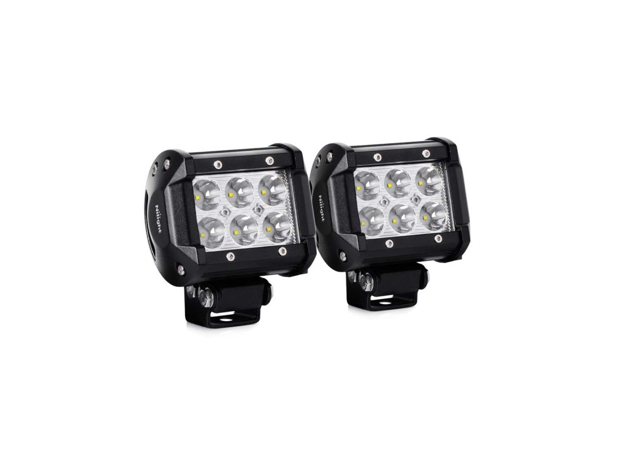 2 Pieces 18W 1260lm Spot Driving Fog Light for $14.24  at Amazon
