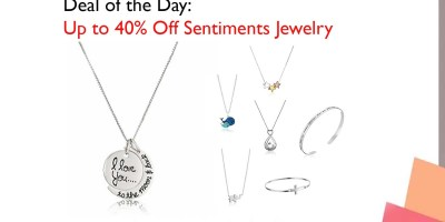 Sterling Silver I love you to the moon & Back Pendant Necklace (18-Inch)