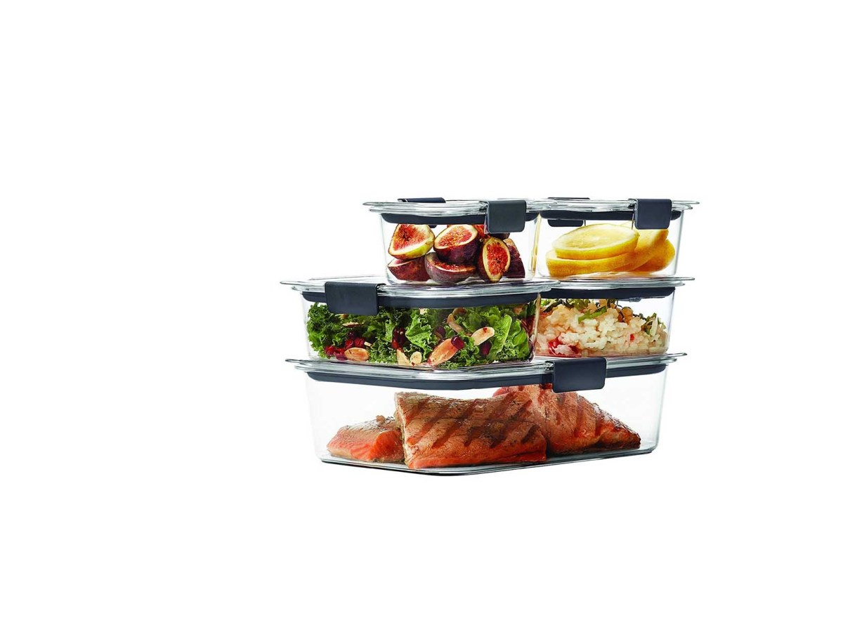 10 Piece Rubbermaid Brilliance Food Storage Container for 1698 at