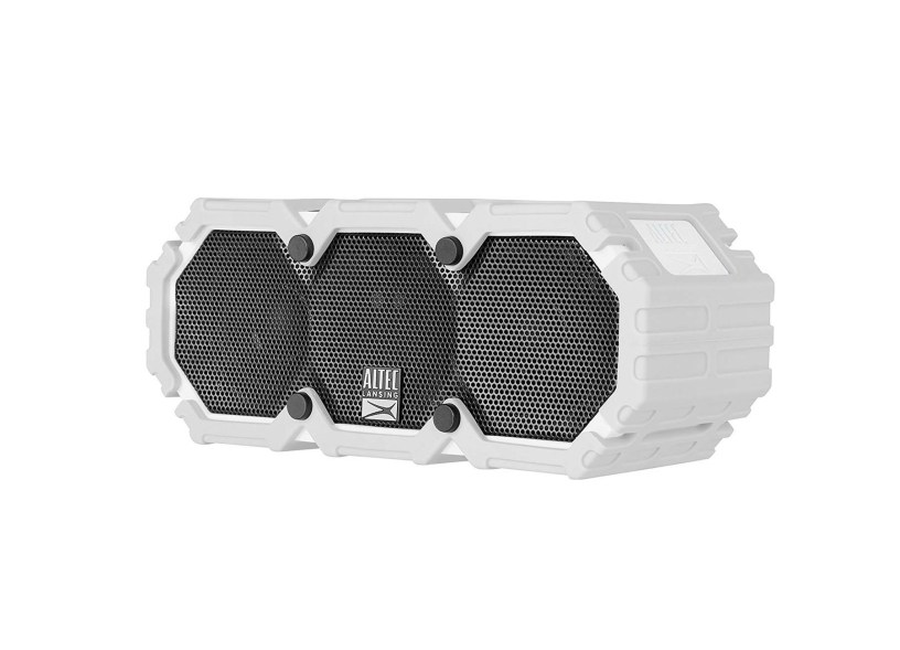 Altec Lansing iMW575 Mini Life Jacket Bluetooth Speaker Waterproof Wireless Bluetooth Speaker – Hands-Free Extended Battery Outdoor Speaker, Ultra-Portable 10ft Range (Grey)