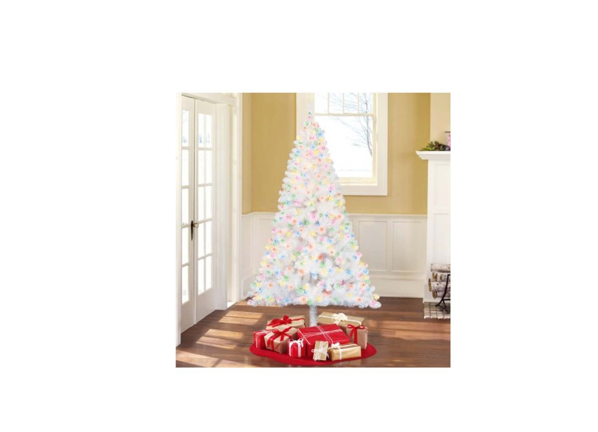 Holiday Time Pre-Lit 6.5′ Madison Pine White Artificial ...