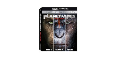 Planet of the Apes 1-3 Trilogy Blu-ray + 4K