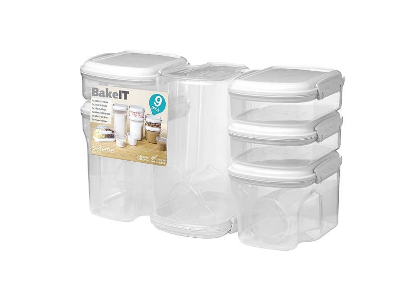 Sistema Bake It Food Storage for Baking Ingredients Multi-Piece Containers (Set of 9)