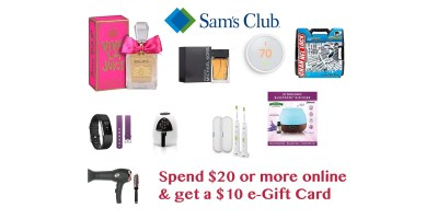 Spend $20 or more online – get a $10 e-Gift Car