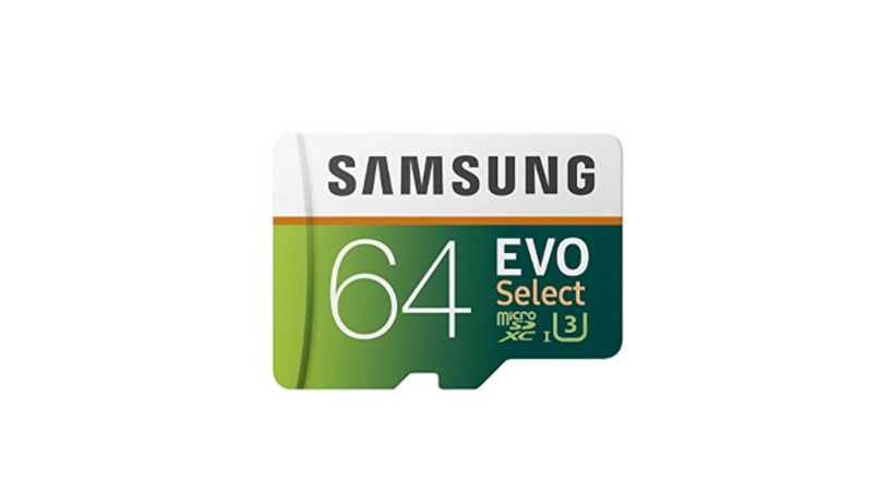 Samsung 64GB 100MB s U3 MicroSDXC EVO Select Memory Card with Adapter