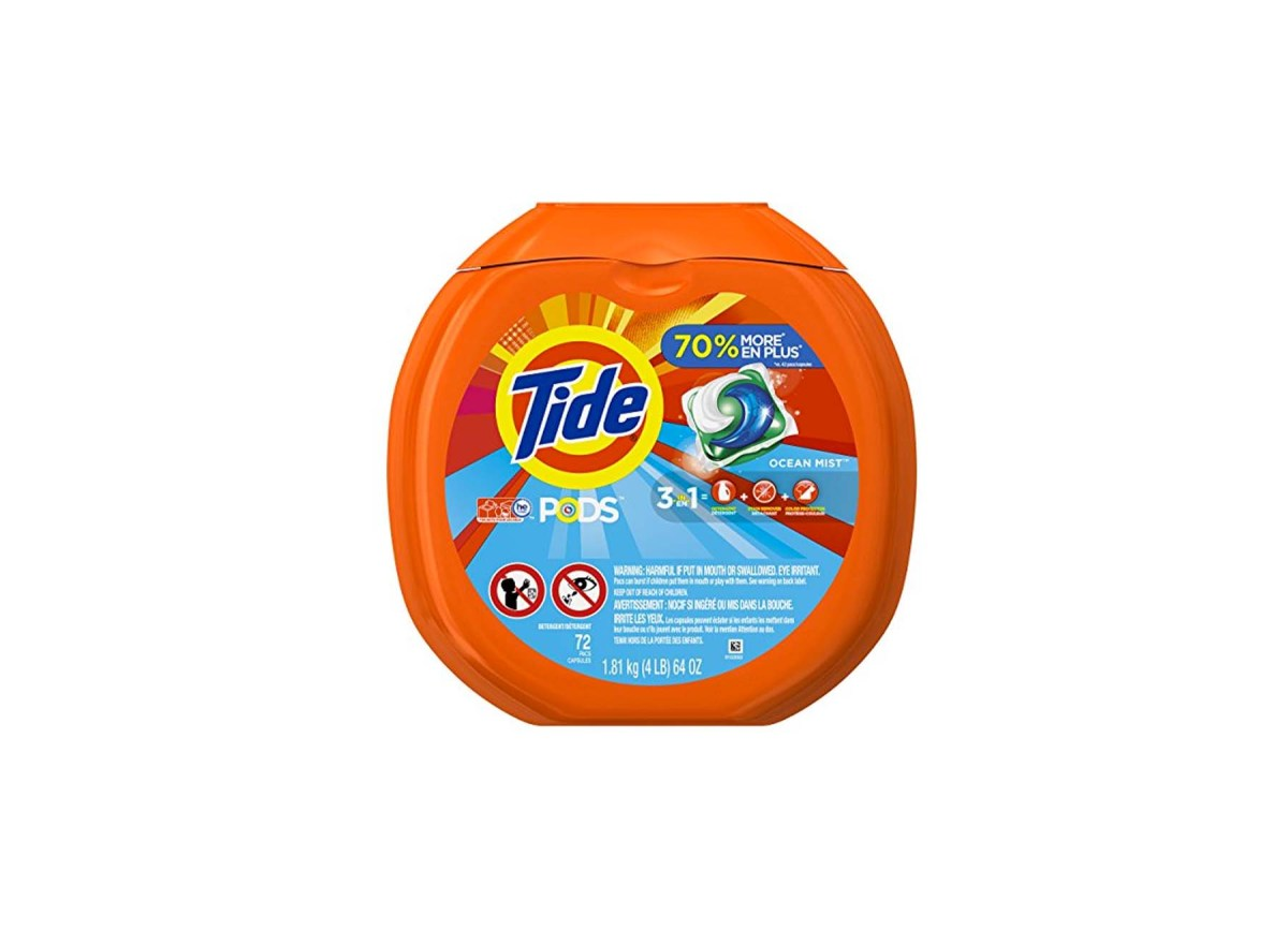 72 Count Tide Pods 3 in 1 HE Turbo Laundry Detergent for $12.35 at Amazon (For Prime Member Only)